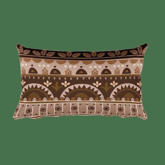 Amazing Brown Rectangular Pillow