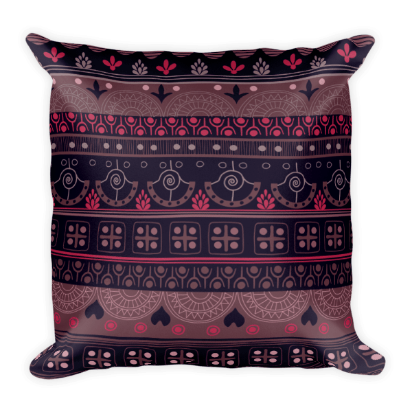 Aztec bardo - Native American Styles Decorative Square Pillow