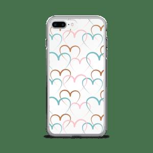 Decorative Hearts Pattern Vector iPhone 7/7 Plus Case