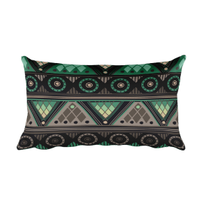Gray - Green Rectangular Pillow