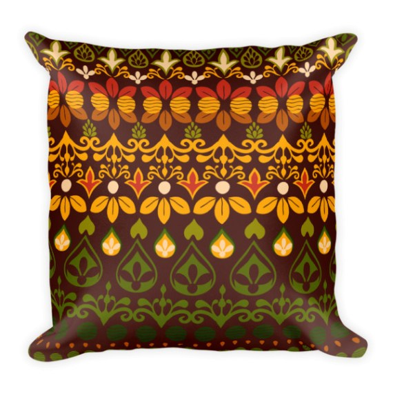 India Spices Square Pillow