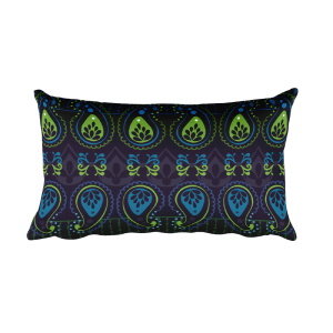 Jewel Blue Rectangular Pillow