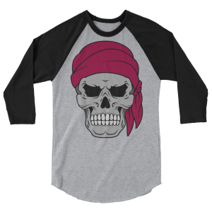 Pirate Skull & Flag Long-Sleeve Shirt
