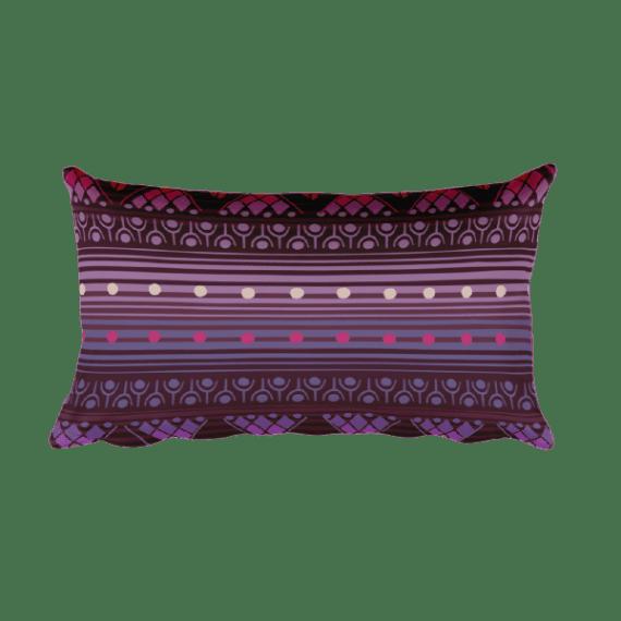 Reddish Pink Rectangular Pillow