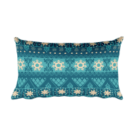 Snow Flake Decor - Christmas - Blue - Gift Rectangular Pillow