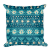 Snow Flake Decor - Christmas - Blue - Gift Square Pillow