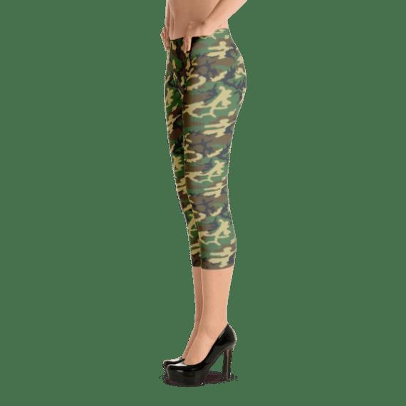 USA Women's Woodland Camouflage Capri Leggings