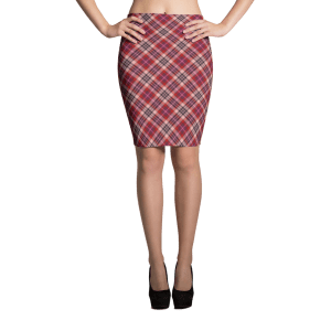 What Devotion Tartan Fabric Sublimation Cut & Sew Pencil Skirt