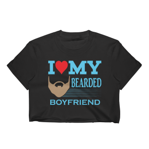 Women's I Love My Bearded Boyfriend Crop Top