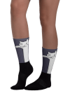 Cat Funny Art Black foot socks
