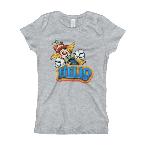 Clown Greeting Girl's T-Shirt
