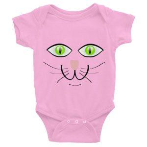 Happy Green Eyes Cat Infant Bodysuit