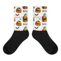 Pumpkings Pattern Black foot socks
