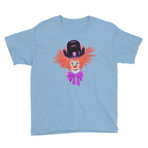 Red Hair Clown Youth Short Sleeve T-Shirt