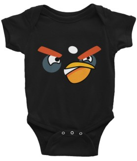 ANGRY BLACK BIRD Infant Bodysuit