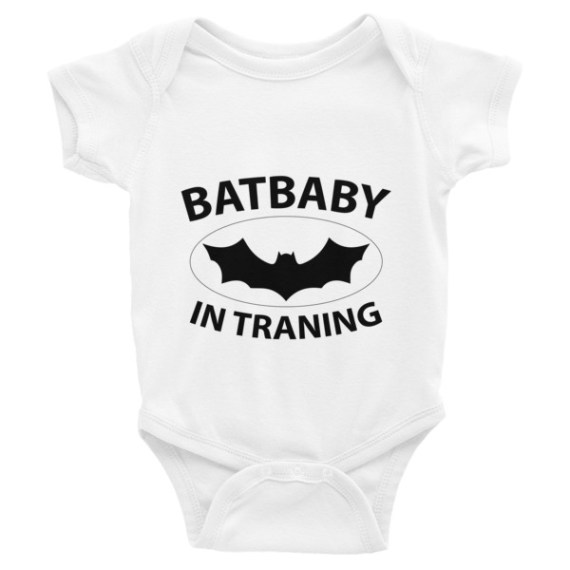 BATBABY IN TRAINING - Funny Infant Bodysuit