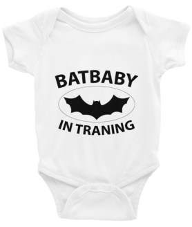BATBABY IN TRAINING - Funny Infant Bodysuit