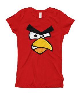 Girl's Angry Cardinal Bird T-Shirt