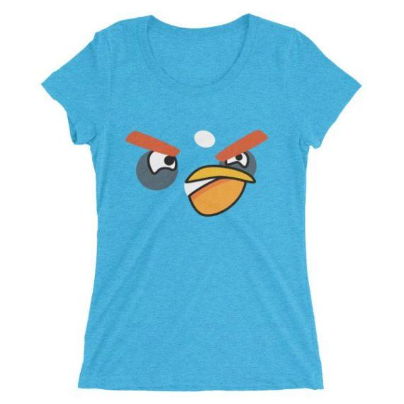 Ladies' ANGRY BLACK BIRD short sleeve t-shirt