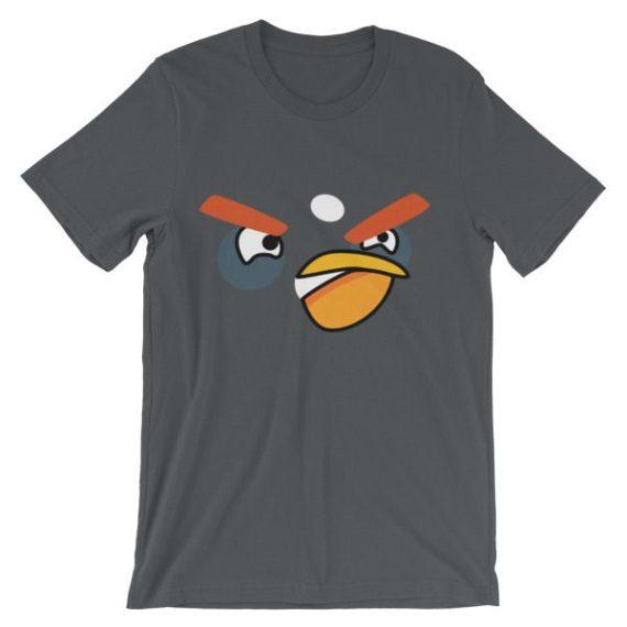 Unisex ANGRY BLACK BIRD short sleeve t-shirt