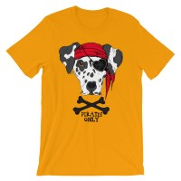 Unisex Pirates Only Dog short sleeve t-shirt