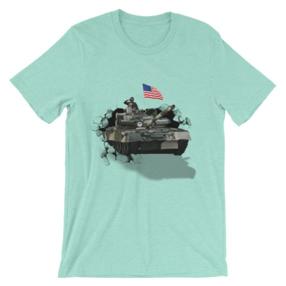 Unisex USA Tank Army short sleeve t-shirt