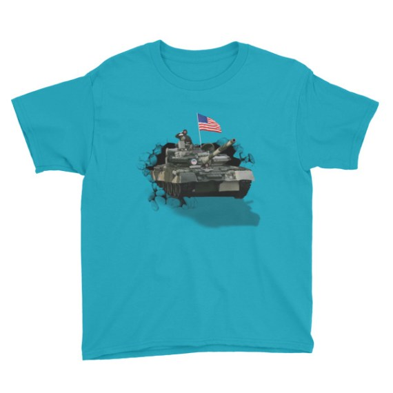 Youth USA Army Tank Short Sleeve T-Shirt