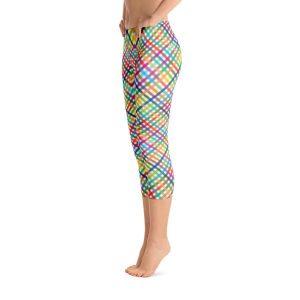 Colorful Checkered Capri Leggings