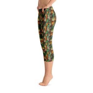 Feathers Capri Leggings – RUNNING PANTS