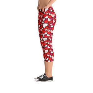 Love Hearts Capri Leggings