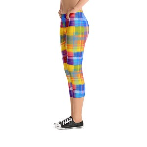 multicolored CHECKERED STYLE Capri Leggings – RUNNING PANTS
