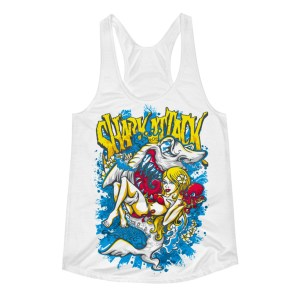 Women's Comic Shark Racerback Tank Top