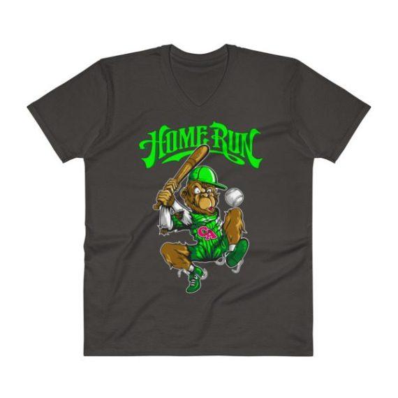 Comic Baseball V-Neck T-Shirt