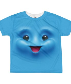 kids Happy Face T-shirt - Girl's Happy Face Emoji T-shirt