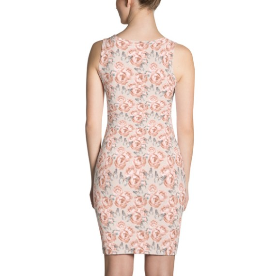 Peony Roses and Butterfly Dress