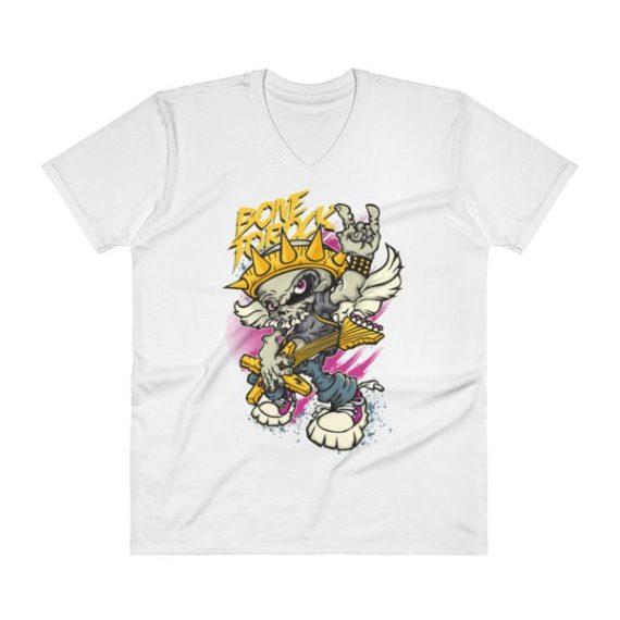 Skull Guitarist V-Neck T-Shirt