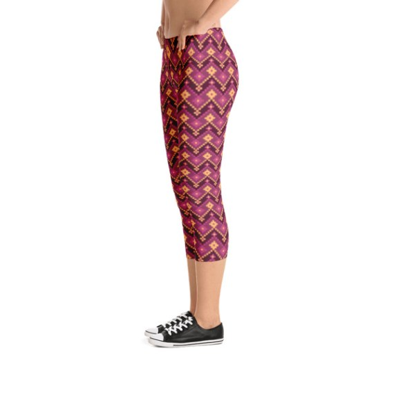 Tribal Printed Stretchy Pants Capri Leggings