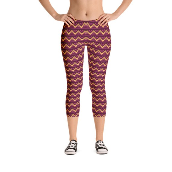 Tribal Style Capri Leggings
