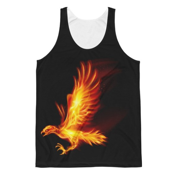 Unisex Flaming Hawk Classic Fit Tank Top