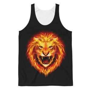 Unisex The Lion of Fire Classic Fit Tank Top