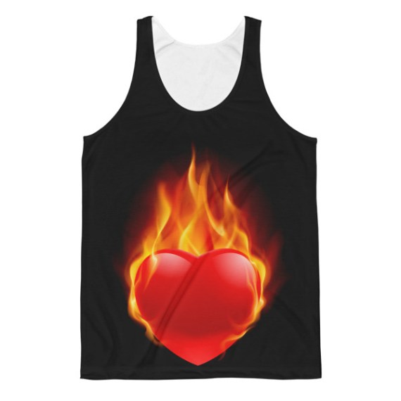 Unisex Warming Heart Classic Fit Tank Top