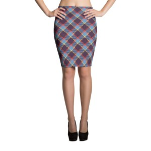 Women's Cute Plaid Party Pencil Skirt