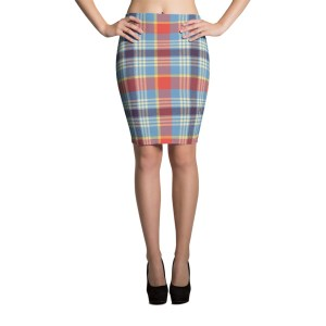 Women's Elegant Tartan Pencil Skirt