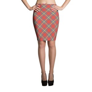 Women's Sexy Plaid Pencil Skirt