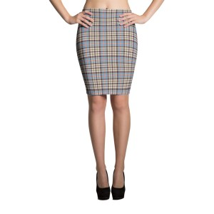 Women's Tartan Fashion Pencil Skirt