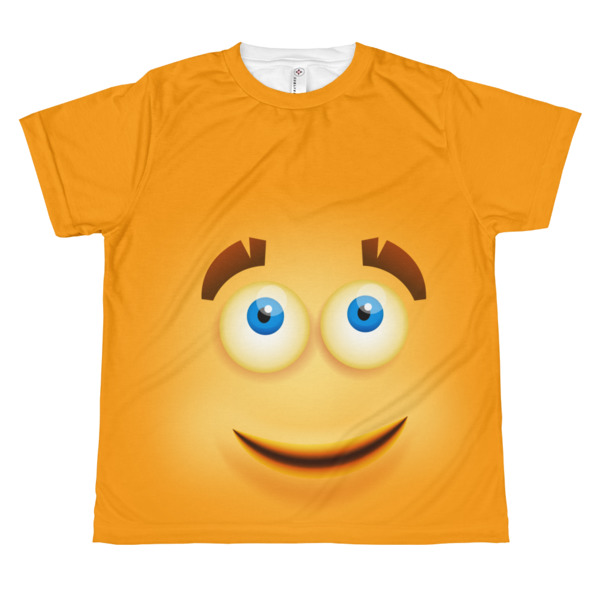 youth Funny yellow smiley face T-shirt