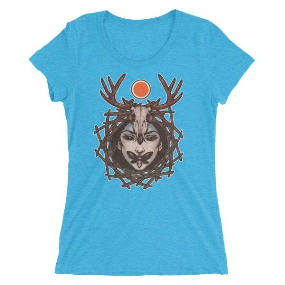 Ladies' Evil Face short sleeve t-shirt