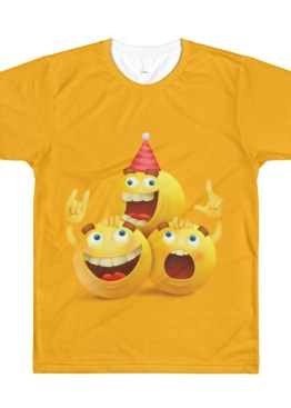 Mens Happy Birthday Emoji T Shirt