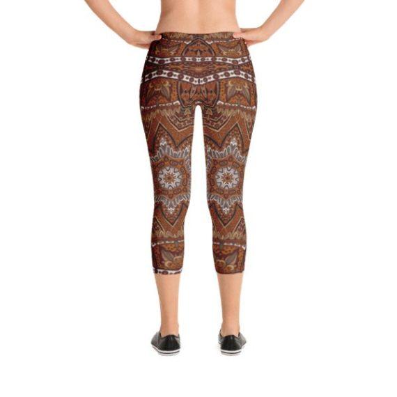 Tribal Ethnic Bohemia Fashion Capri Leggings