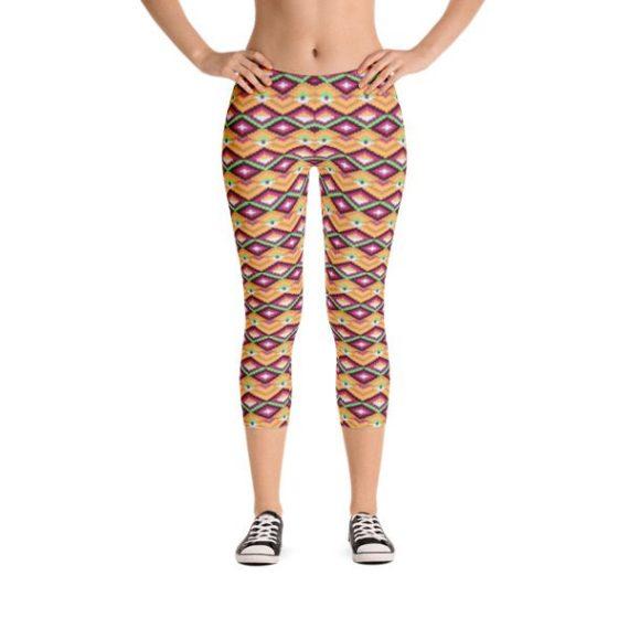 Tribal Fashion Capri Leggings